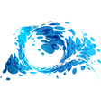 Aqua background water splash vector image