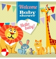 Baby shower celebration greeting invitation card vector image vector image