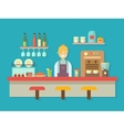Bar counter vector image vector image