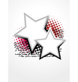 beautiful star art vector image vector image