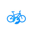 bicycle bike repair service icon vector image vector image