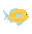 blue and yellow fish variety ocean vector image vector image