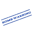 Bomb Warning Watermark Stamp vector image