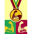 Book medal vector image vector image