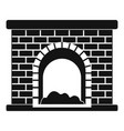 brick fireplace icon simple style vector image vector image