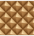 Brown wood triangles seamless pattern vector image