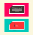 Business Card Flat Design Retro Simple Layout - vector image vector image