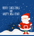 cartoon for holiday theme with santa claus on vector image vector image