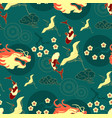 chinese seamless pattern in traditional asian vector image