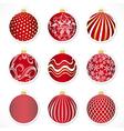 Christmas tags for christmas balls or stickers vector image