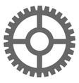 clock cog flat icon symbol vector image