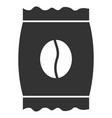 coffee bean pack flat icon vector image vector image
