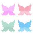 collection of fairy wings collection of fairy vector image