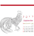color book september vector image vector image