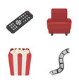 control panel an armchair for viewing popcorn vector image vector image