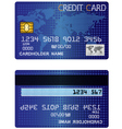 Credit Card of the stars vector image