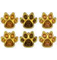 dog paw 2018 of new year set of stickers vector image