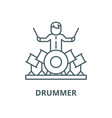 drummer line icon linear concept outline vector image
