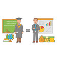 education concept in flat vector image vector image