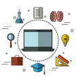 education related design vector image vector image
