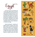 egypt travel agency information poster for vector image vector image