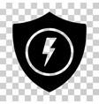 electric guard icon vector image vector image
