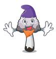 elf shaggy mane mushroom character cartoon vector image