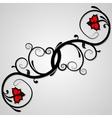 floral whorls vector image