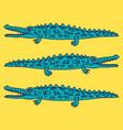 funny crawling crocodile vector image