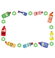 Funny Recycling Frame vector image vector image
