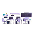 furniture in office or computer class vector image vector image