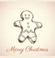 gingerbread man vector image