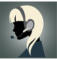 girl with headset vector image
