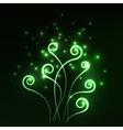 Green magic light fern greenery abstract vector image vector image