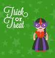 halloween character a girl in traditional costume vector image
