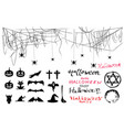 halloween photo booth props with free hand text vector image vector image