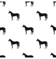 horseanimals single icon in black style vector image vector image