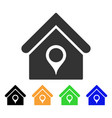 house location icon vector image