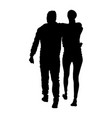 hugged couple in love silhouette boy and girl vector image vector image