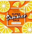 lemon super summer sale banner in paper cut style vector image