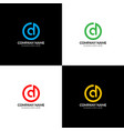 letter d in circle logo icon flat design vector image vector image