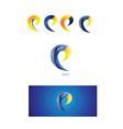 Letter e logo icon 3d vector image vector image