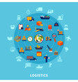 Logistic Round Composition vector image vector image