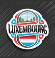 logo for luxembourg vector image vector image