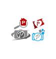 logotype p modern template set vector image vector image
