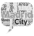 Madrid City Guide A Quick Overview Of Madrid s vector image vector image