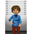 Man with measuring height vector image