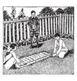 measuring garden or measuring tape vintage vector image vector image