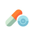 medical pills - healthcare icon - medicine vector image vector image