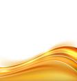 Modern orange swoosh line border background vector image vector image